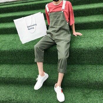 ¡Novedad de 2019! pantalones informales de algodón para hombre, pantalones de Hip-hop, pantalones para hombre, monos, pantalones de Color verde militar, monos, S-2XL