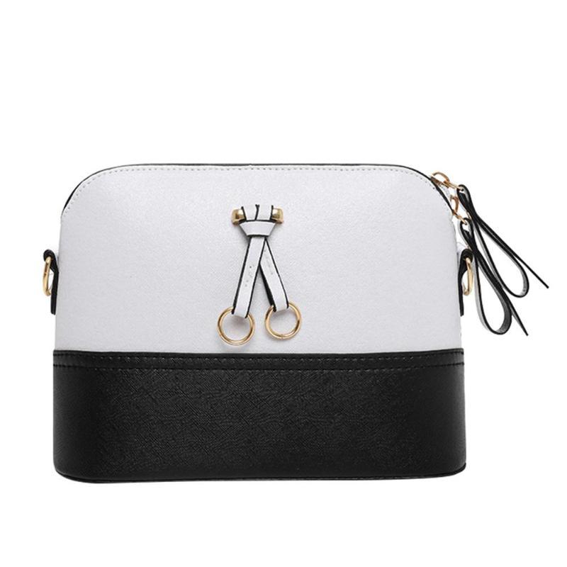 c412194ec60e 2018 Vintage Women PU Leather Crossbody Messenger Bag Shell Patchwork  Shoulder Bag Lady Small Hangbag Bolsa