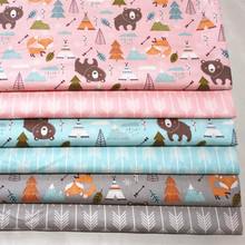 Baby Cotton Quilting Fabric by meter Printed Cartoon Kids Cotton Fabric for DIY Sewing Bed Sheet Dress making cotton fabric cheap Woven Breathable other see chart Other Fabric 100 Cotton