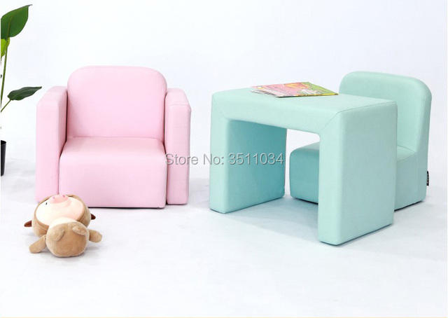 Lovely Multifunctional Children's Sofa Sofa with Embroidery Patte Comfortable Living room Students/Kids home furniture