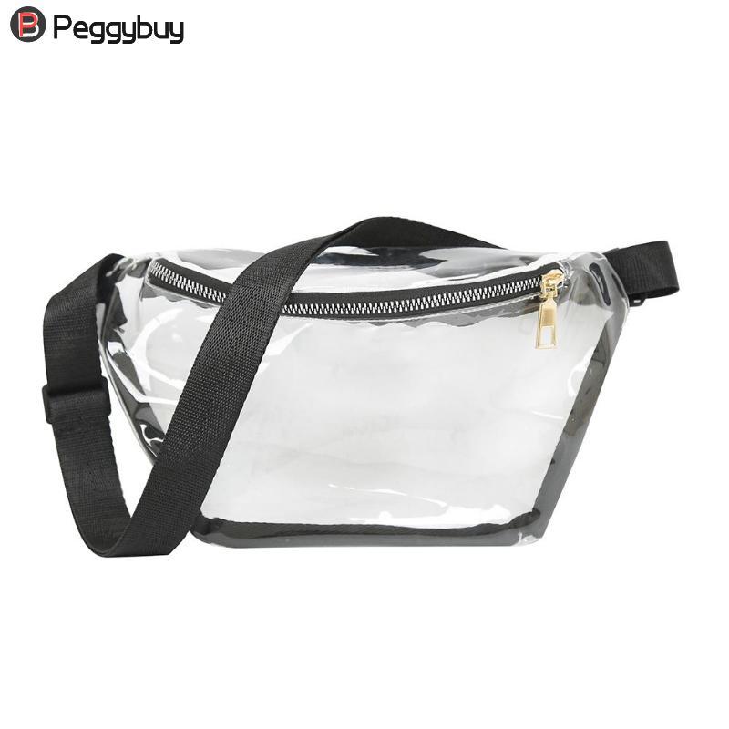 Women PVC Clear Transparent Bag Punk Fanny Packs Punk Bum Bag Chic Hologram Purse Fashion Waist Pack Pochete