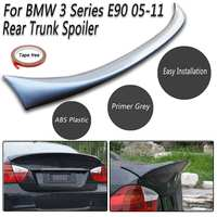 For BMW 3 Series E90 05 11 Rear Trunk ABS Boot Lip Lid Spoiler M Sports Matte Black Exterior Rear Roof Wings Trunk Lip