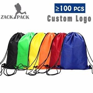 Zackpack الرباط حقيبة الرياضة للماء على ظهره حزمة جيب مخصص الطباعة شعار للرجال الطالبات