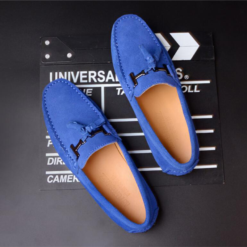 Mens Casual Shoe Loafers Genuine   Leather   Shoes Men Big Size 46 Driving Boat Shoe Slip-on Men Loafers   Suede   Shoes Dress 2019 New