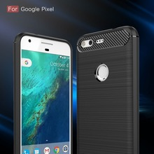 For Google Pixel 1 2 3 Case Carbon fiber Brushed silicone TPU XL Colored Back Cover Protector