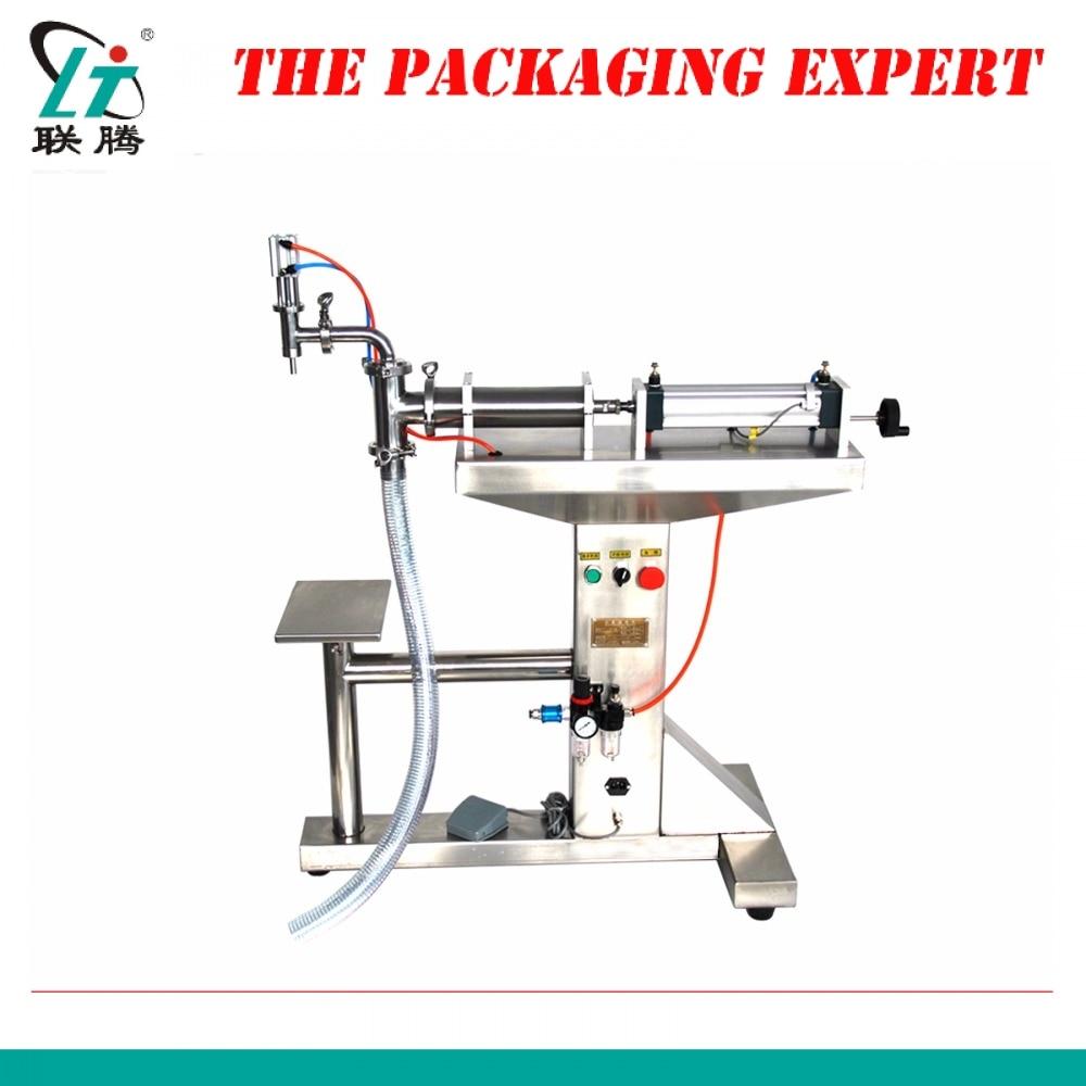 Standing Water Milk Detergent Chemical Shampoo Juice Oil Eliquid Filling Machine Semi Automatic Pneumatic Piston Filler