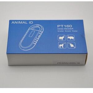 Image 2 - Batteria ricaricabile di potere del USB FDX B ID64 Pet ID tag orecchio piccolo mini RFID microchip reader per cane gatto animali domestici animale chip di scanner