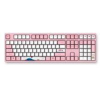 Mechanical Game Keyboard AKKO 3108 V2 108 Key PBT Keycap Akko Pink Switch Type C Wired Mechanical Gaming Keyboard