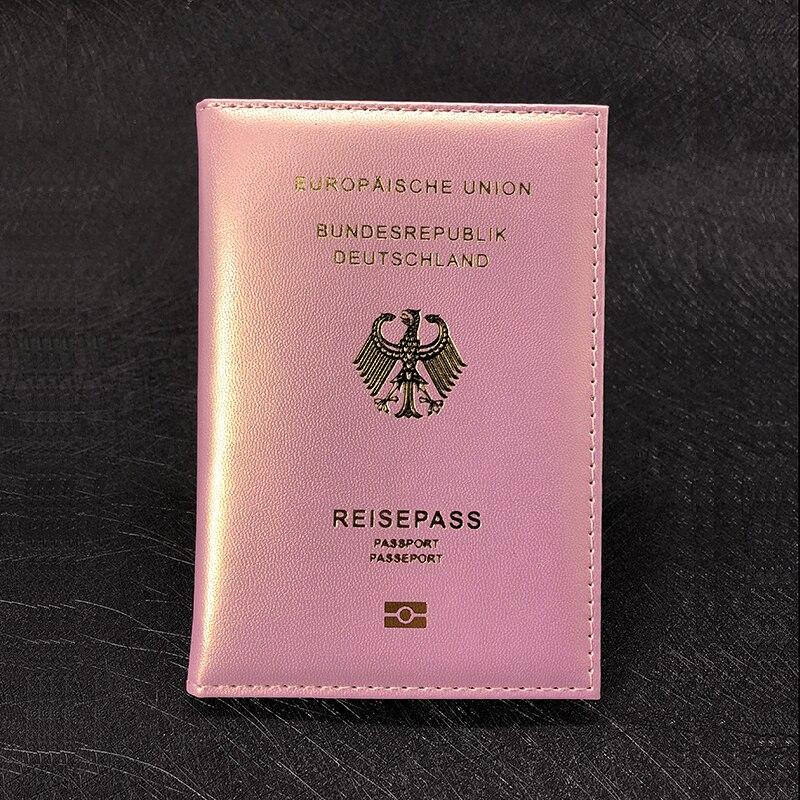 Cute German Passport Cover Women Pink Germany Passport Holder Case For Passports Girls Case For Passport