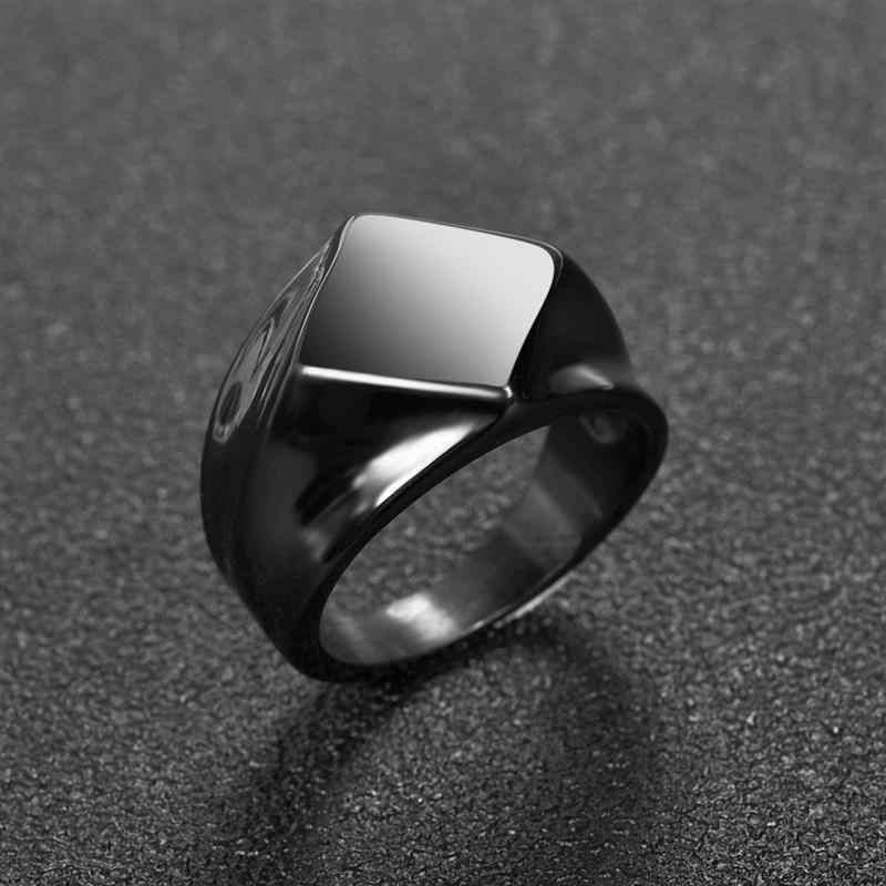 Jiayiqi 2019 новые мужские кольца ретро геометрический стиль панк кольца мужские ювелирные изделия унисекс серебряное кольцо из черного золота