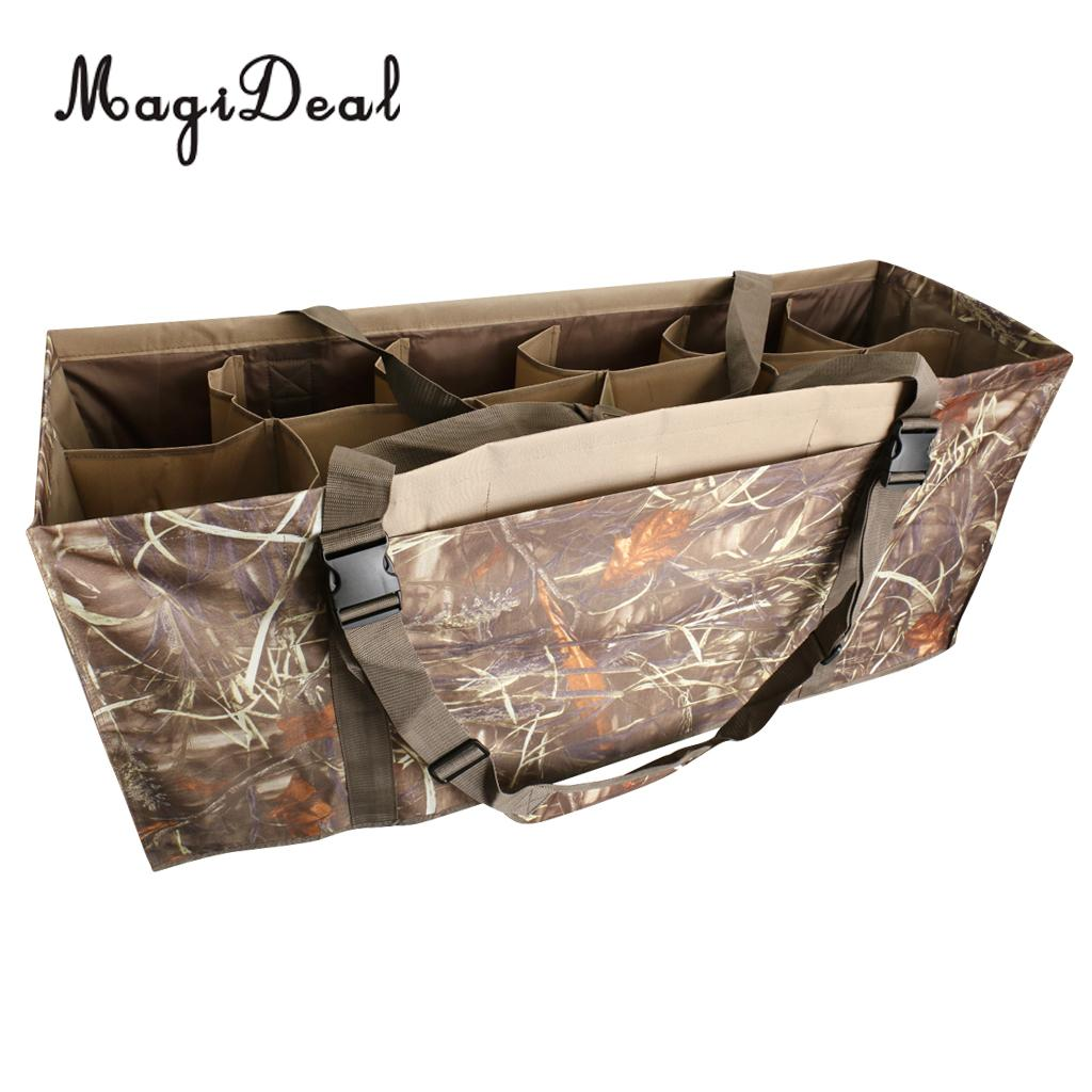 Lightweight 600D Nylon Slotted Decoy Bag with 12 Slot - Protect Decoys Camo for Outdoor Hunting Accessories Duck Decoy Bag camo print nylon crossbody bag