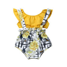 2019 Baby Girl summer clothing set Short ruffle shirt Tops Overall Pants Outfit for newborn infant clothes children kid toddler