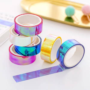 Masking-Tapes Albums Decorative Adhesive Scrapbooking Laser Glitter Candy-Colors Girls