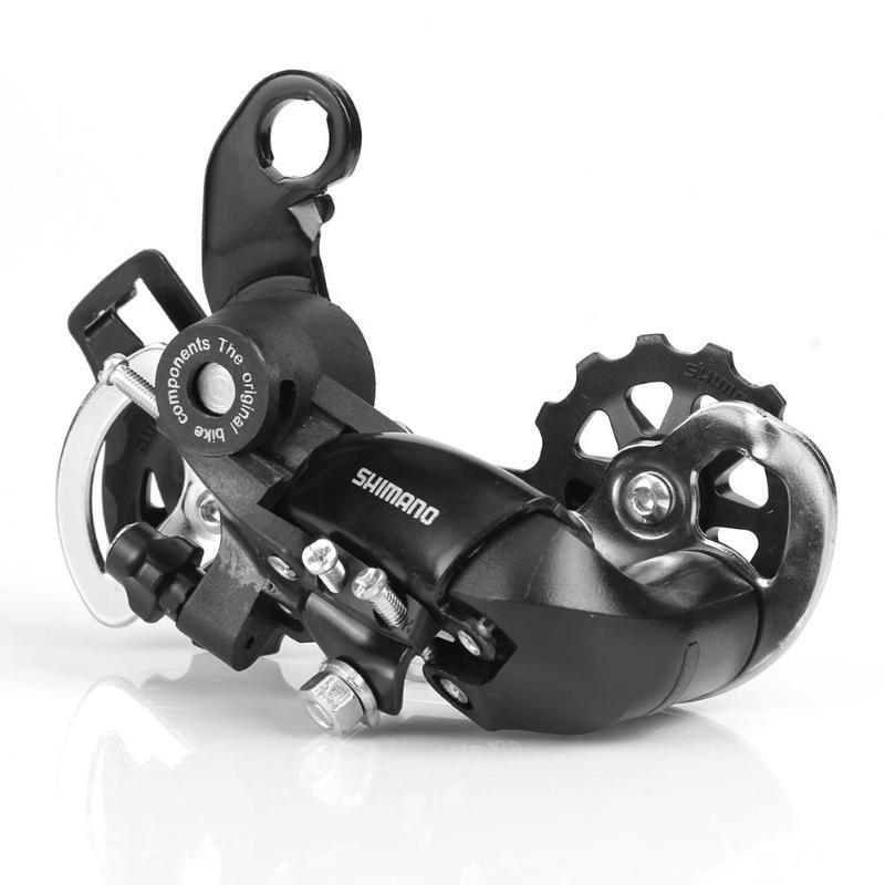6/7/8 velocidade tx35 desviador traseiro da bicicleta original da liga de alumínio mountain bike desviador traseiro peças da bicicleta