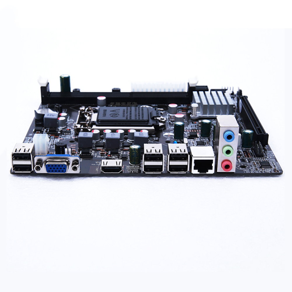 Image 2 - Socket LGA 1155 DDR3 Micro ATX Motherboard Mainboard Desktop Computer Mainboard for Intel H61-in Motherboards from Computer & Office