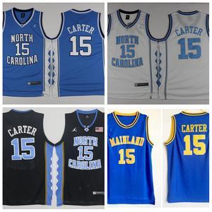 fa1d3038fda2 ... top quality north carolina tar heels 15 vince carter college basketball  jersey retro blue white mainland
