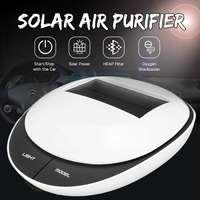 Solar Car Air Purifier Car Solar Negative Ionizer Cleaner Anion Air Freshner No Noise Formaldehyde PM2.5 Removal for Home Use