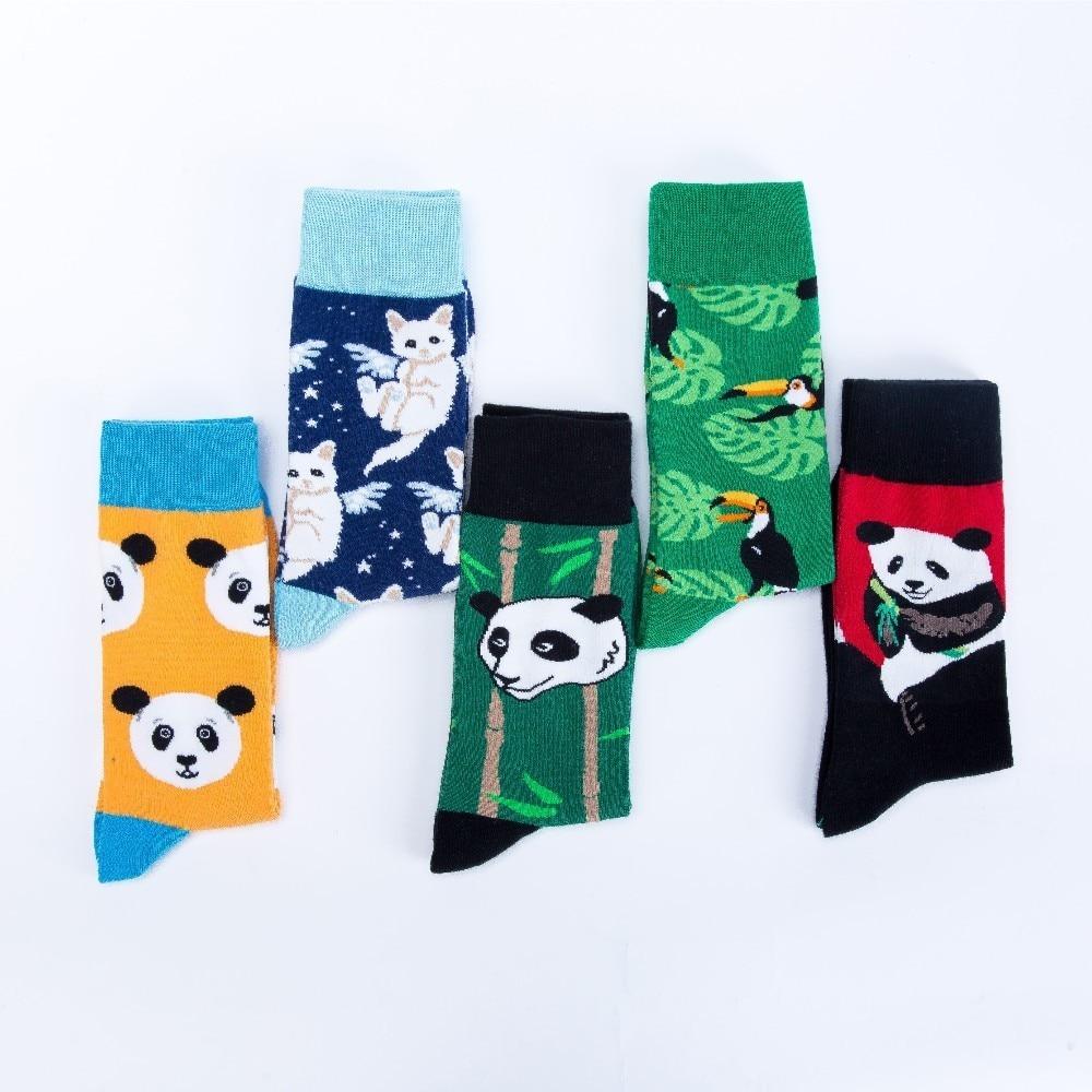 Underwear & Sleepwears V-hanver Fashion Original Mens Socks Cotton Colorful Dress Happy Socks Novelty Animal Panda Patterned Harajuku Men Sock Gift