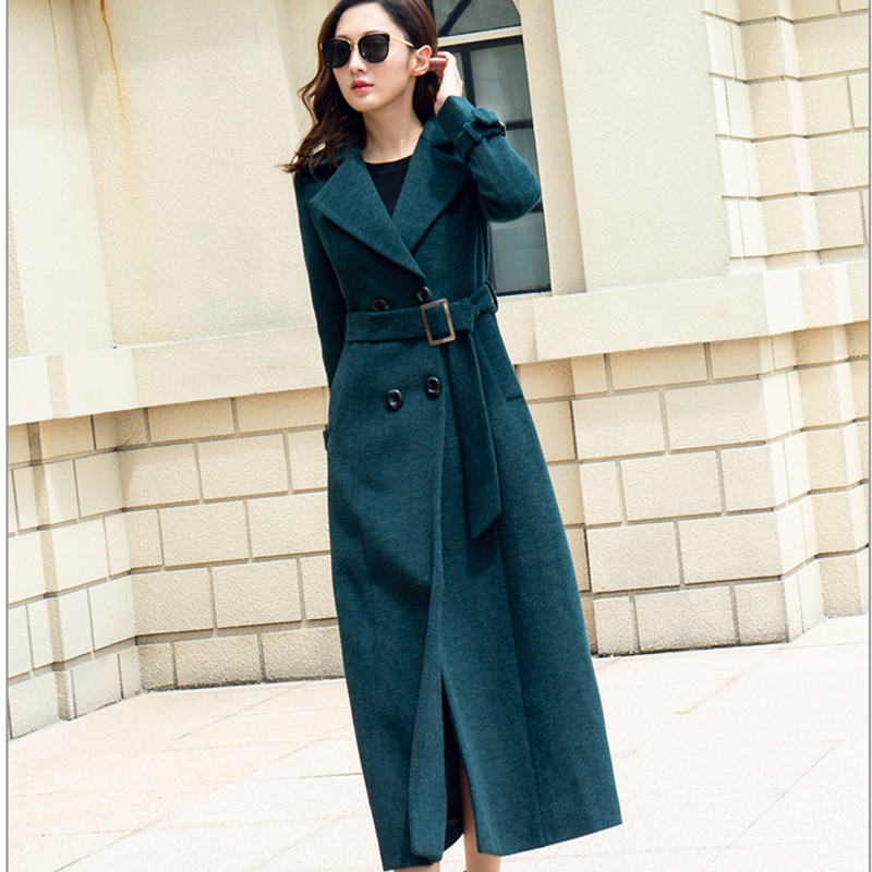 2019 Autumn Winter New Office Wear Wool Blend Trench Coat ...