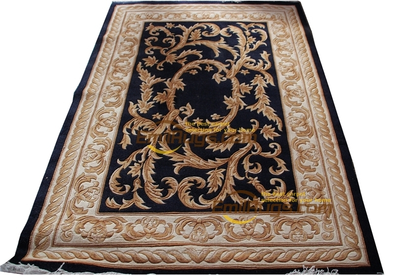 Tapis noué à la main en laine Pure à motif Floral tapis en laine tissés à la main pour le salon