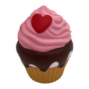 RCtown Simulate Loving Heart Cupcake Squishy Toy Home Decor