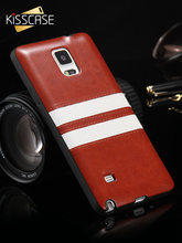 KISSCASE Luxury PU Leather Horizontal White Line Phone Cover For Samsung S6 Edge Phone Case For Samsung Galaxy Note 4 Cases Capa стоимость