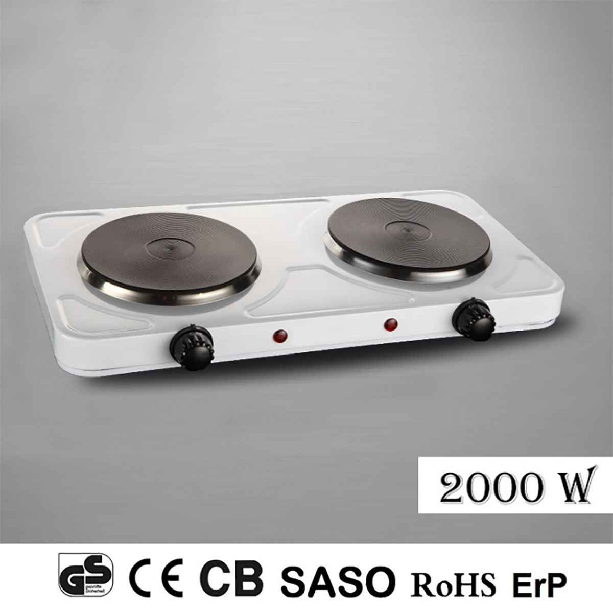 Detail Feedback Questions About 2000w 2 Electric Portable Dual Hot Plate Cooktop Cooker Kitchen Hotplate Camping White Stove Cookware Hob Free Shipping On