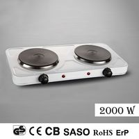 2000W*2 Electric Portable Dual Hot Plate Cooktop Cooker Kitchen Hotplate Camping White Stove/Cookware/Hob Free Shipping