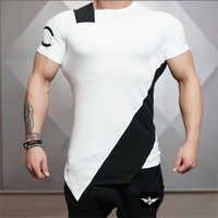 2019 turnhallen Bodyengineers Sommer Die Stadion Shark Stringer T-shirt Mann Bodybuilding Und Fitness Verbrechen Kurzarm T-shirt