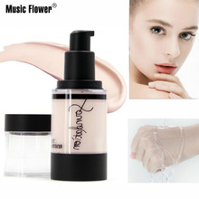 Music Flower Natural Liquid Foundation Cream Soft Matte Full Coverage Face Makeup Base Waterproof Concealer