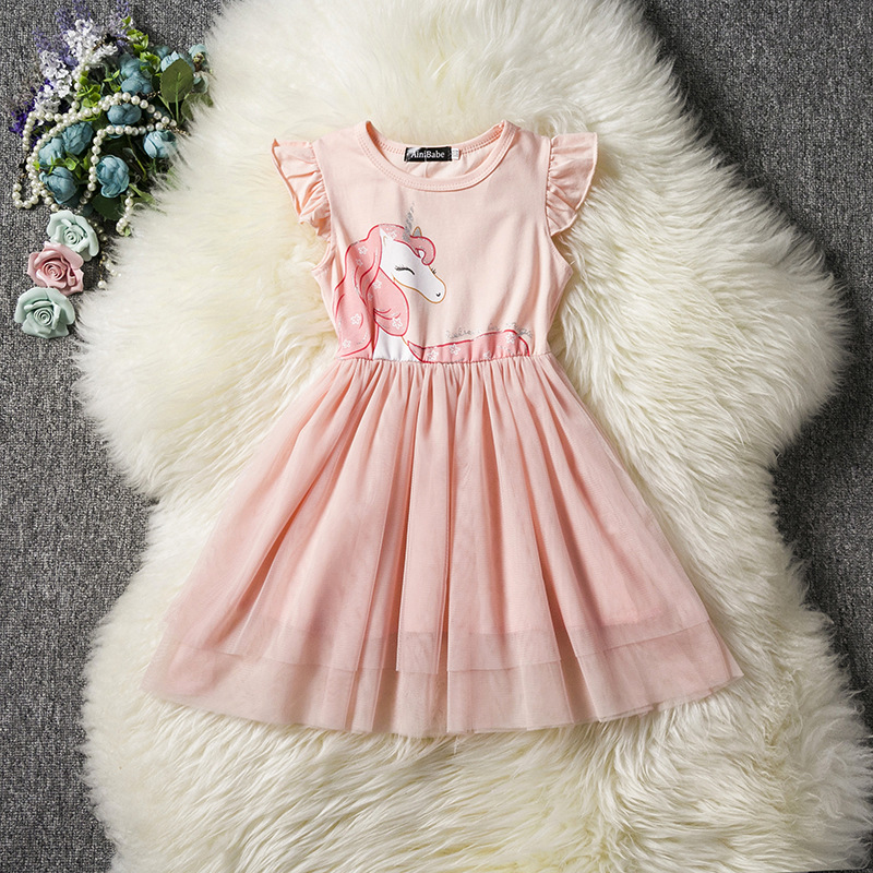2019 Summer Girls Dress Sleeveless Kids Unicorn Dresses Children Vestidos For Girl Clothing