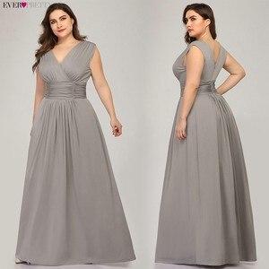 Image 5 - Plus rozmiar sukienki druhen kiedykolwiek dość EZ07661SB dekolt bez rękawów szyfonowa sukienka na wesele tanie długie Vestido Madrinha