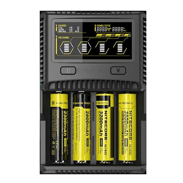 SC4 LCD moniteur USB Charge rapide intelligente Lithium Ion/IMR/LiFePO4/NiMH chargeur de batterie pour presque toutes les Batteries