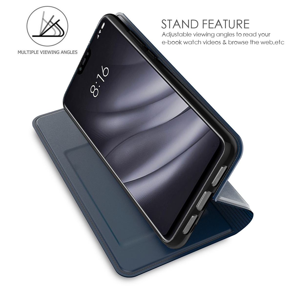 Image 2 - For Asus Zenfone Max M2 ZB633KL Case PU Leather Flip Stand Wallet Cover For Asus Zenfone Max Pro M2 ZB631KL ZB602KL Case Card-in Wallet Cases from Cellphones & Telecommunications