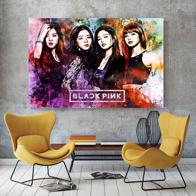 Kpop Art BLACKPINK Poster Canvas Printings Room Decor No Frame