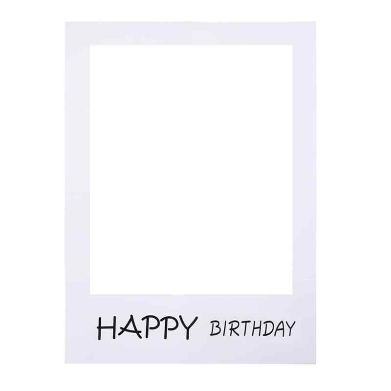 1PC Happy Birthday Photo Frame Birthday Pictures Anniversary Cutouts Booth Props party Favors Supplies Decoration