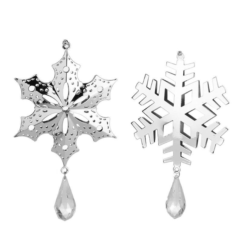 Christmas Iron Snowflake Christmas Tree Ornament Innovative Hollow Iron Pendant 2019 Xmas Metal Pendant Ornaments Hanging Decor
