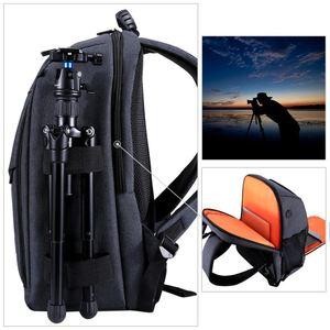 Image 3 - PULUZ borsa da esterno portatile impermeabile antigraffio a doppia spalla zaino accessori per fotocamera borsa per foto digitale DSLR