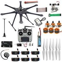 Full RC Drone 6 Trục Máy Bay Bộ HMF S550 Khung 6M GPS APM 2.8 Điều Khiển Bay AT10 II bộ Phát Gimbal Camera Mount
