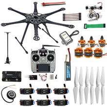 Full RC Drone 6 axis Aircraft Kit HMF S550 Frame 6M GPS APM 2.8 Flight Control AT10 II Transmitter Gimbal Camera Mount