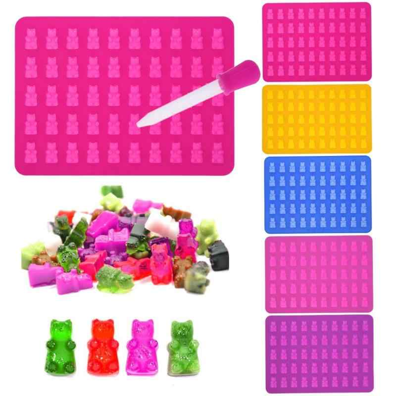 Siliconen 50 Grids Gummy Beren Chocolate Candy Cakevorm Ice Tray Party Wedding Baby Shower Decoreren Bakken Tools