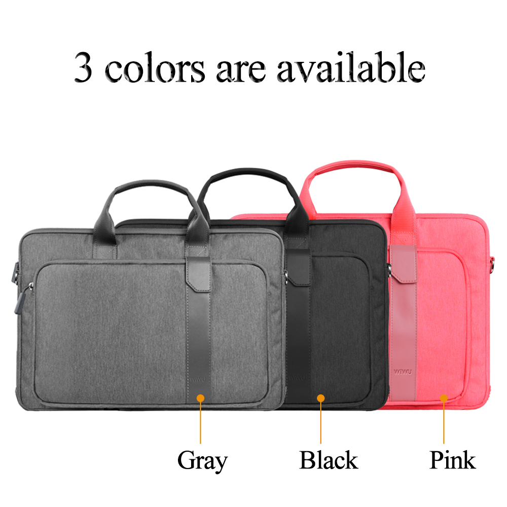 WIWU Water resistance Notebook Bag for Dell XPS 15 Computer Bag Fashion Nylon Laptop Bag for Macbook Pro Touchbar 15 Case-in Laptop Bags & Cases from Computer & Office