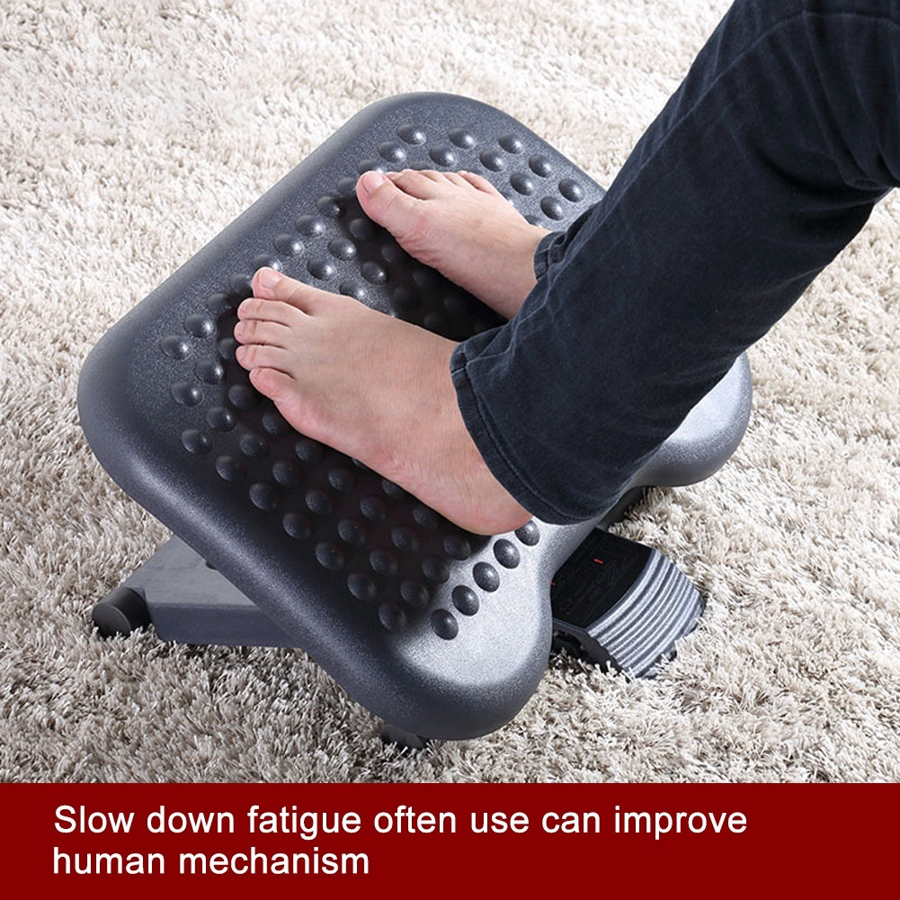 Massage & Relaxation Adjustable Height Foot Rest Stool Ergonomic Portable Comfortable Under Desk Home Office Massage Relaxation A