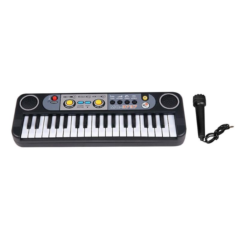 Mini 37 Keys Electone Keyboard Toy with Microphone Digital Simulation Piano Educational Toys Children Musical Instruments ToysMini 37 Keys Electone Keyboard Toy with Microphone Digital Simulation Piano Educational Toys Children Musical Instruments Toys