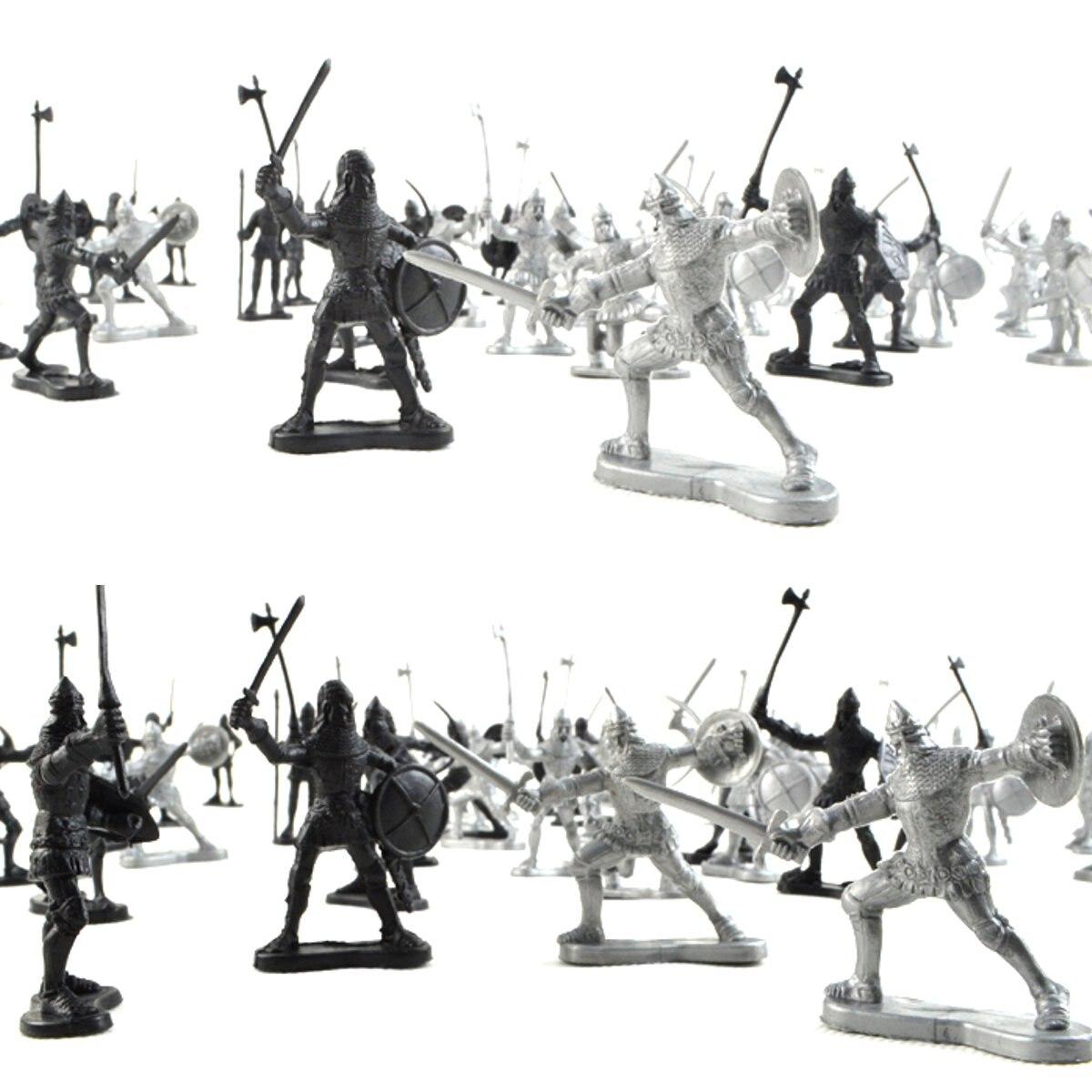 Mzpsuv Caballeros 28 Plástico Medievales De Modelo Soldados Unidslote 08nOwPk