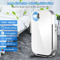 Large Profession Air Purifier True HEPA Filter Remove Sterilizer ozone Formaldehyde cleaning PM2.5 Household Quiet Air Cleaner