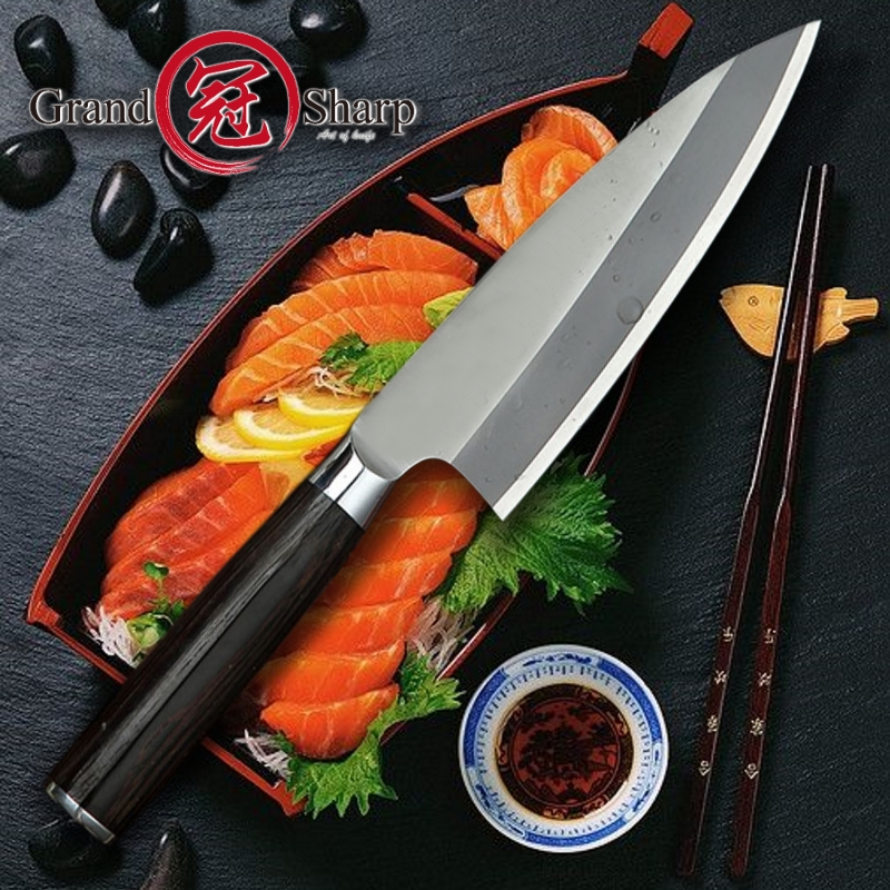Kitchen Knife 8 2 Inch Japanese Deba Knives Cutting Fish Kitchen Knives Stainless Steel Chef Cooking