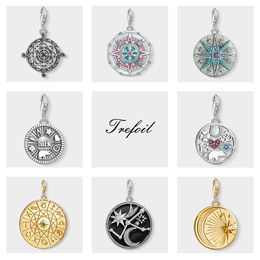Mayan Calendar Lucky Coin Charms Pendant,2019 Fashion Jewelry 925 Sterling Silver TS Gift For Women Girls Fit Bracelet Necklace