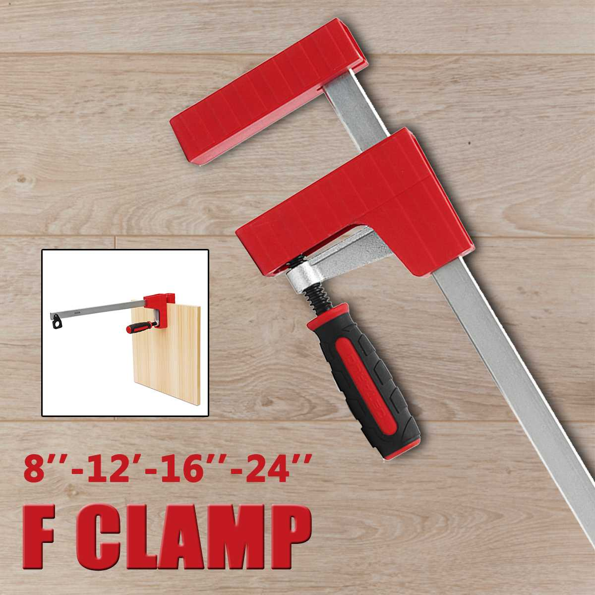 8/12/16/24 F Parallel Clamp Heavy   80mm Woodworking Tool Depth F Clamp Adjustable DIY Wood Clamping Carpenter Clamps Grip8/12/16/24 F Parallel Clamp Heavy   80mm Woodworking Tool Depth F Clamp Adjustable DIY Wood Clamping Carpenter Clamps Grip