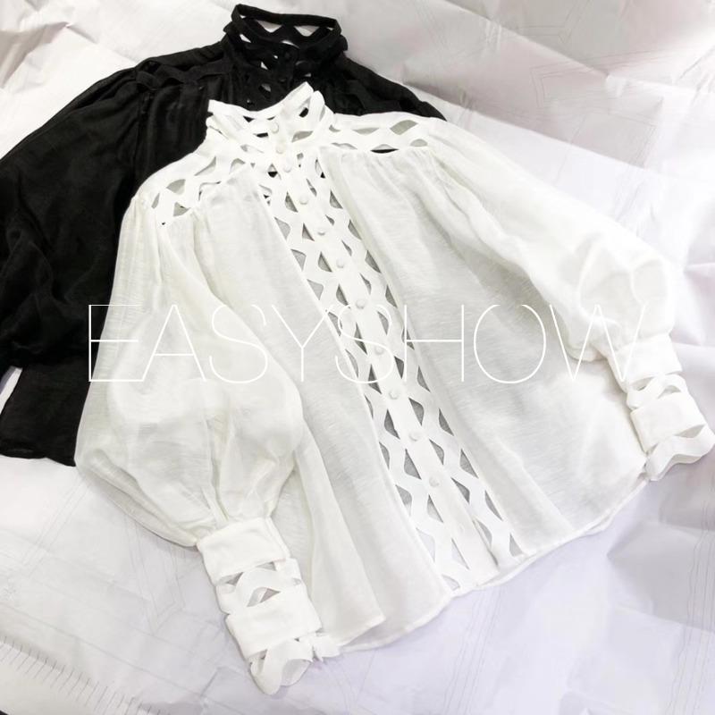 Stil 100 white Qualität Stickerei Palace Beste Klassische In Leinen Top Spitze 8010 Blase Ärmeln China Black wFxHqACHI